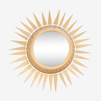 """Miroir """"Soleil"""" en céramique Georges Pelletier"""