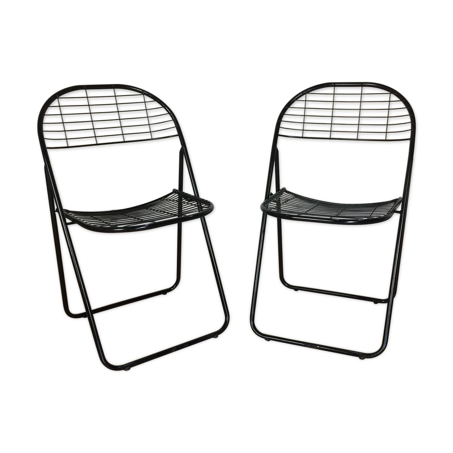 Paire de chaises pliantes 1980