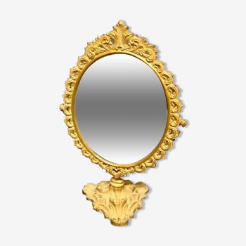 Miroir ancien en laiton