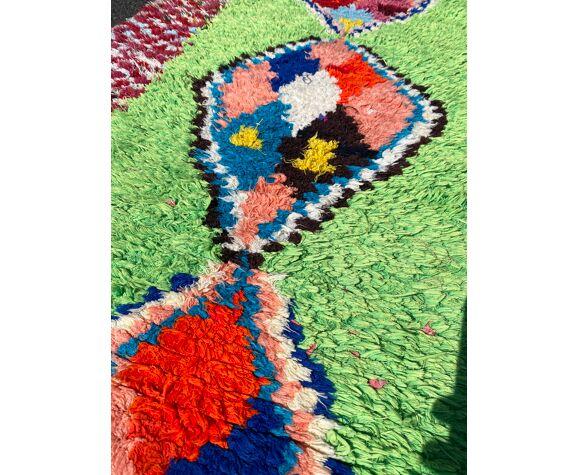 Tapis berbere boucherouite vintage 80x250 cm