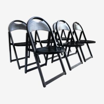 Set de 6 chaises pliantes modèle 751 par Thonet 1970s