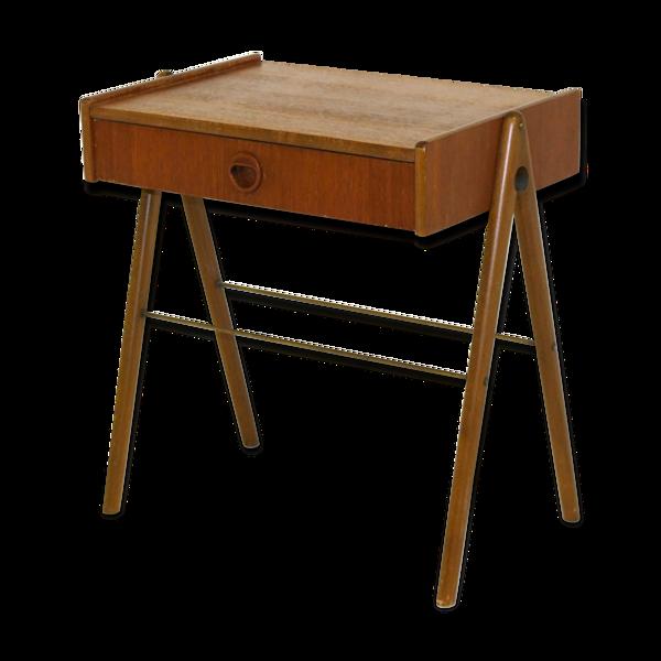 Selency Table de chevet en teck Suède 1960