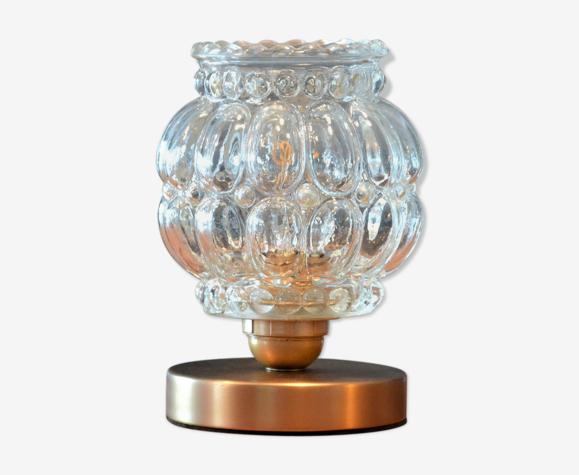 Lampe à poser globe en verre à grosses bulles