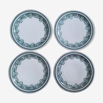 Set 4 flat plates Mosa