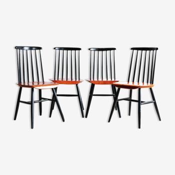 Suite de quatre chaises Fanett par Ilmari Tapiovaara