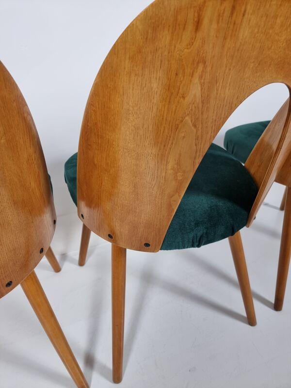 Chaises de salle à manger par Antonín Šuman pour Tatra, années 1960, Set de 4