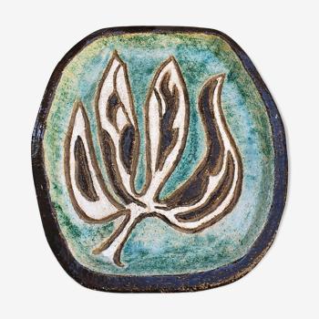 Plat ceramique Jacques Pouchain