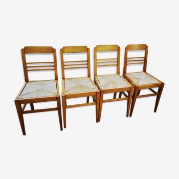 Set de 8 chaises reconstruction