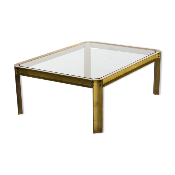 Tables basse en verre 70s Peter Ghyczy 'T09 ambassade'