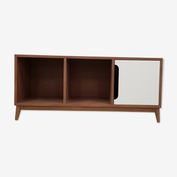 Kilt honey oak storage bench