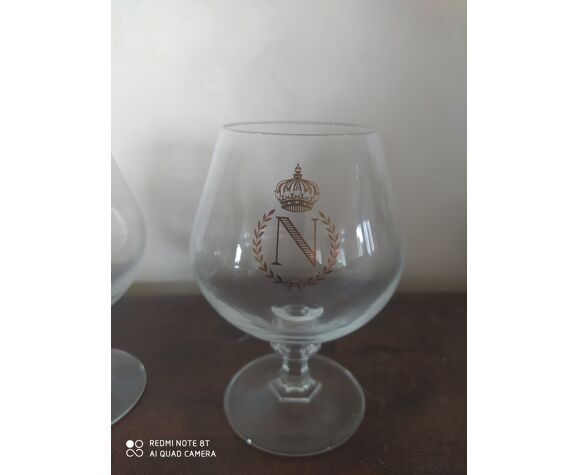 Lot de 3 verres à cognac en cristal de baccarat