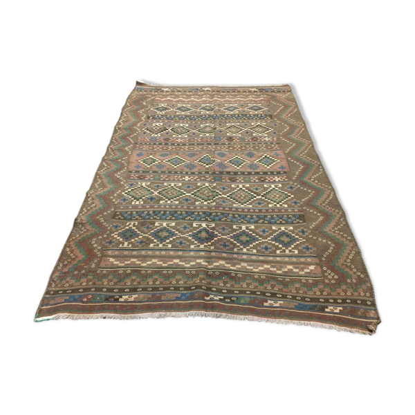 Tapis vintage caucasien kilim  230x150 cm
