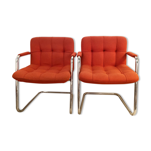 Selency Paire de fauteuils 70's