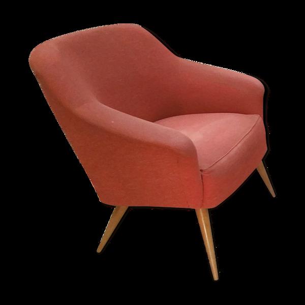 Selency Fauteuils cocktail années 50-60 rouge