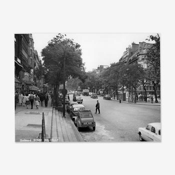 Photographie vintage boulevard Bonne Nouvelle Paris 1965