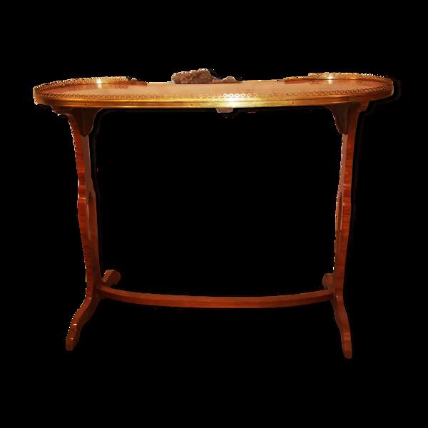 Table rognon à galerie en placage epoque Louis XVI XVIII