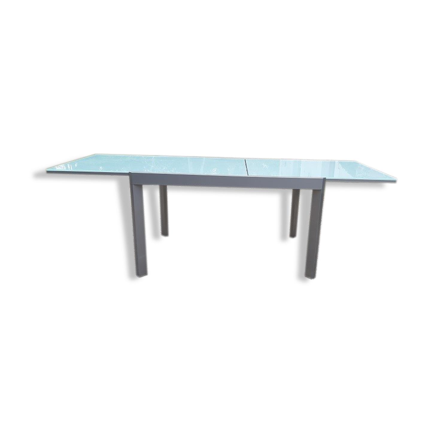 Table Calligaris métal et verre