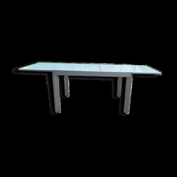 Selency Table Calligaris métal et verre