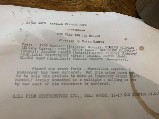 Photographie de cinéma noir et blanc film de costa gavras vintage