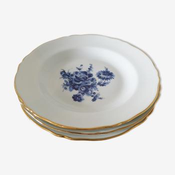 Assiettes en porcelaine de Couleuvre