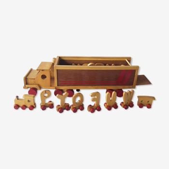 "Wooden ""alphabet"" truck"