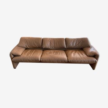 Maralunga Cassina sofa 3 seater leather