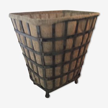 Panier à bûches en fer