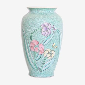 Vase en céramique, texture granité, 1960, vintage