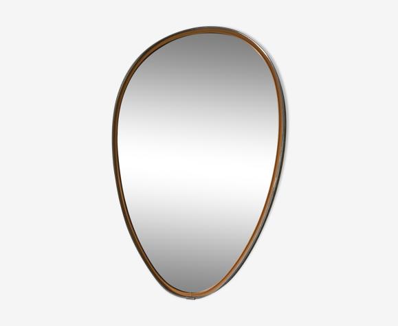 Miroir rétroviseur 48x33cm vintage 1960
