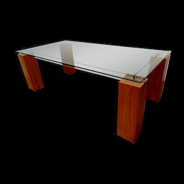 Table 8 personnes, design Roche Bobois, verre