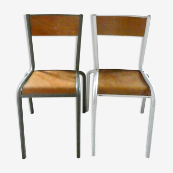 Paire de chaises d'école Mullca 510