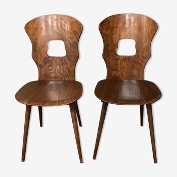 Paire chaise bistrot  baumann gentiane  vintage 50/60