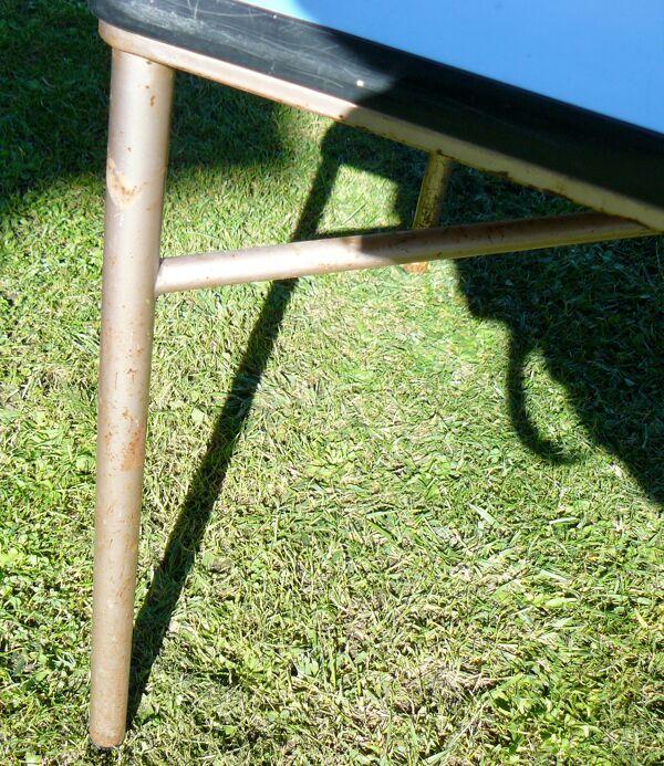 Table basse formica bleu vintage 1950-60