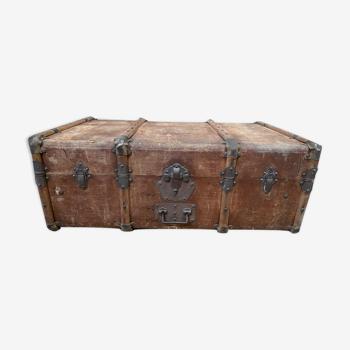 Malle-valise ancienne monogrammée