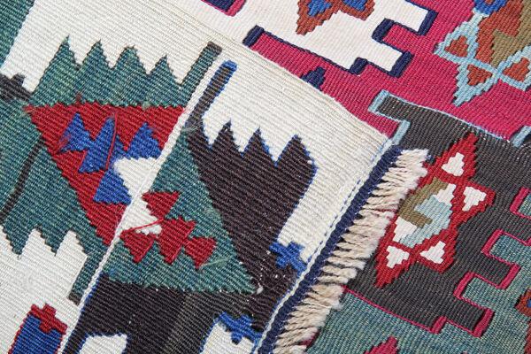 Tapis kilim turc en laine tissée à la main 170x350cm