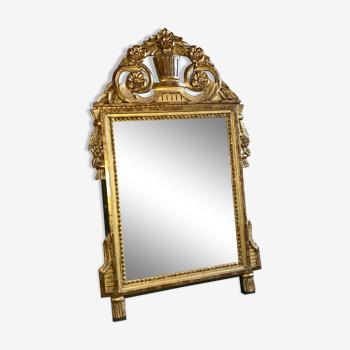 Miroir Louis XVI feuille d'or