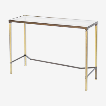 Console in gilded brass and glass