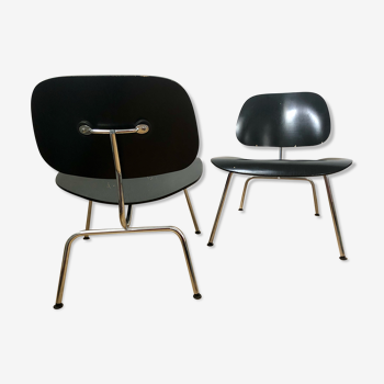 Pair of Eames LCM Plywood armchairs at Vitra signed