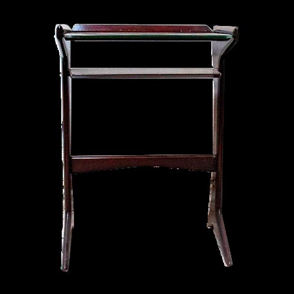 Table basse en acajou par Ico Parisi pour De Baggis Italia années 1950