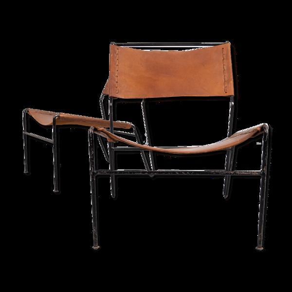 Fauteuils en cuir des années 1960 Néerlandaises A Dolleman pour Metz & Co