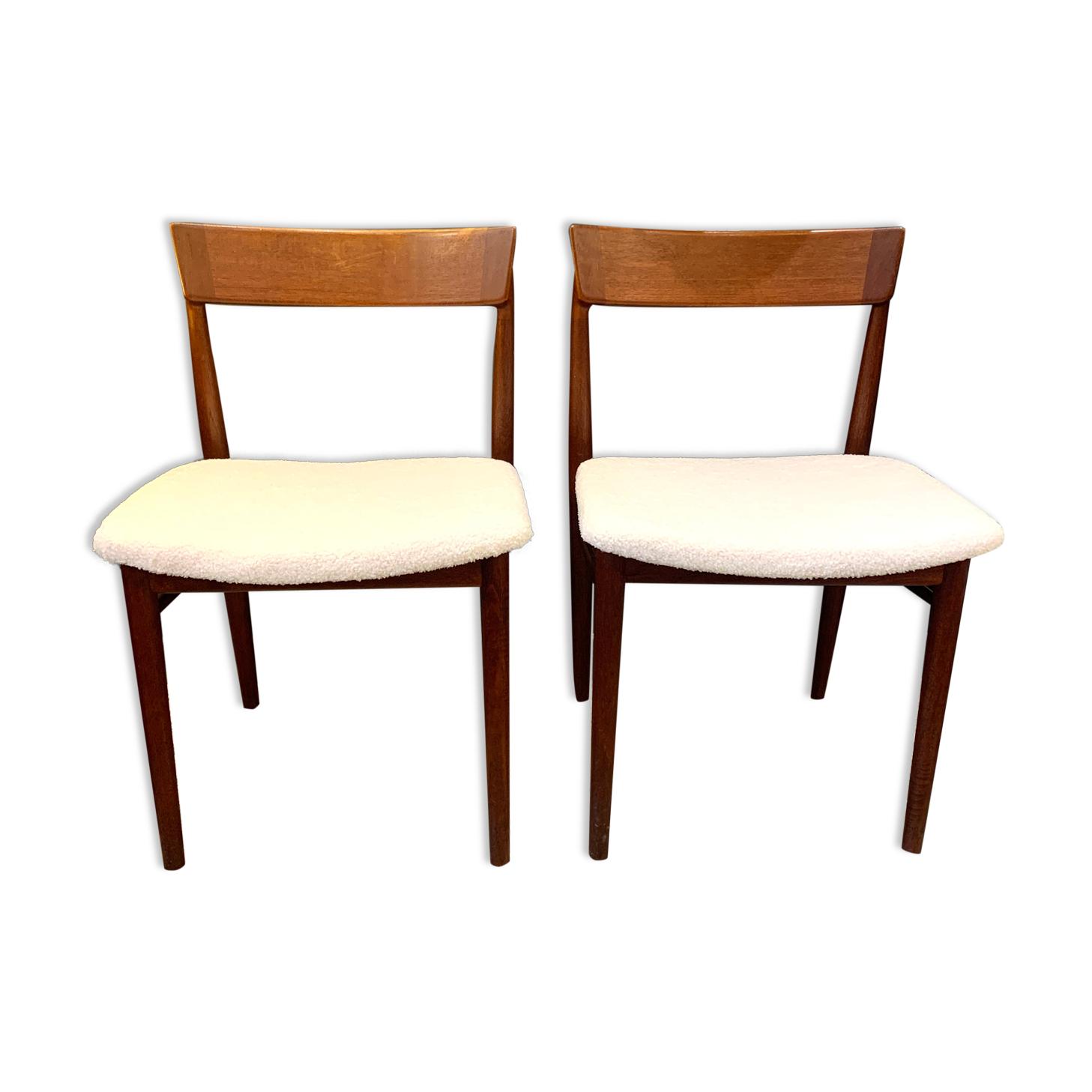 Paire de chaises vintage scandinave en palissandre