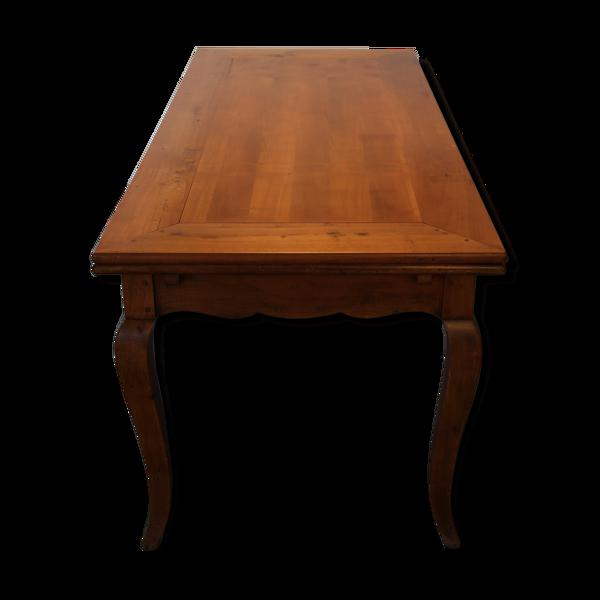 Selency Table en merisier extensible