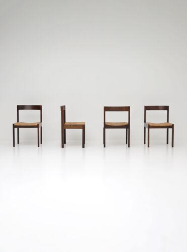 Chaises en wengé de Martin Visser