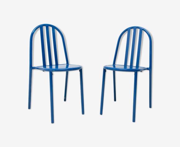 Model No.222 Bauhaus chairs by Robert Mallet-Stevens, 1960´s