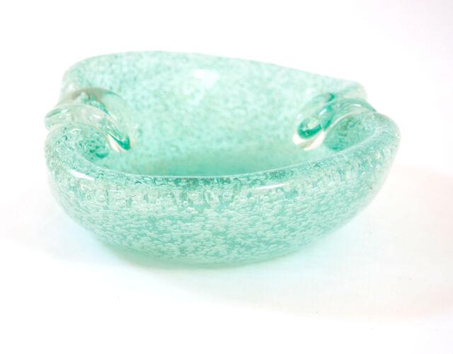 Cendrier à cigare en cristal turquoise