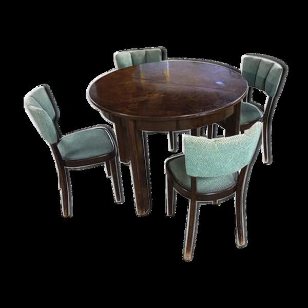 Selency Table et 4 chaises par Jindich Halabala 1935