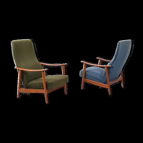 Selency Paire de fauteuils danois du milieu du siècle en teck