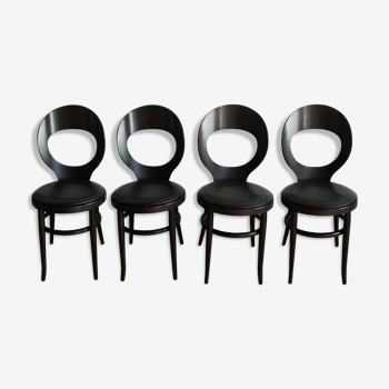 Série de 4 chaises Mouette Baumann