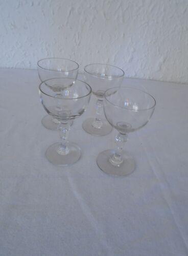 Set de 4 verres anciens alcool bistrot verre à cerise pb