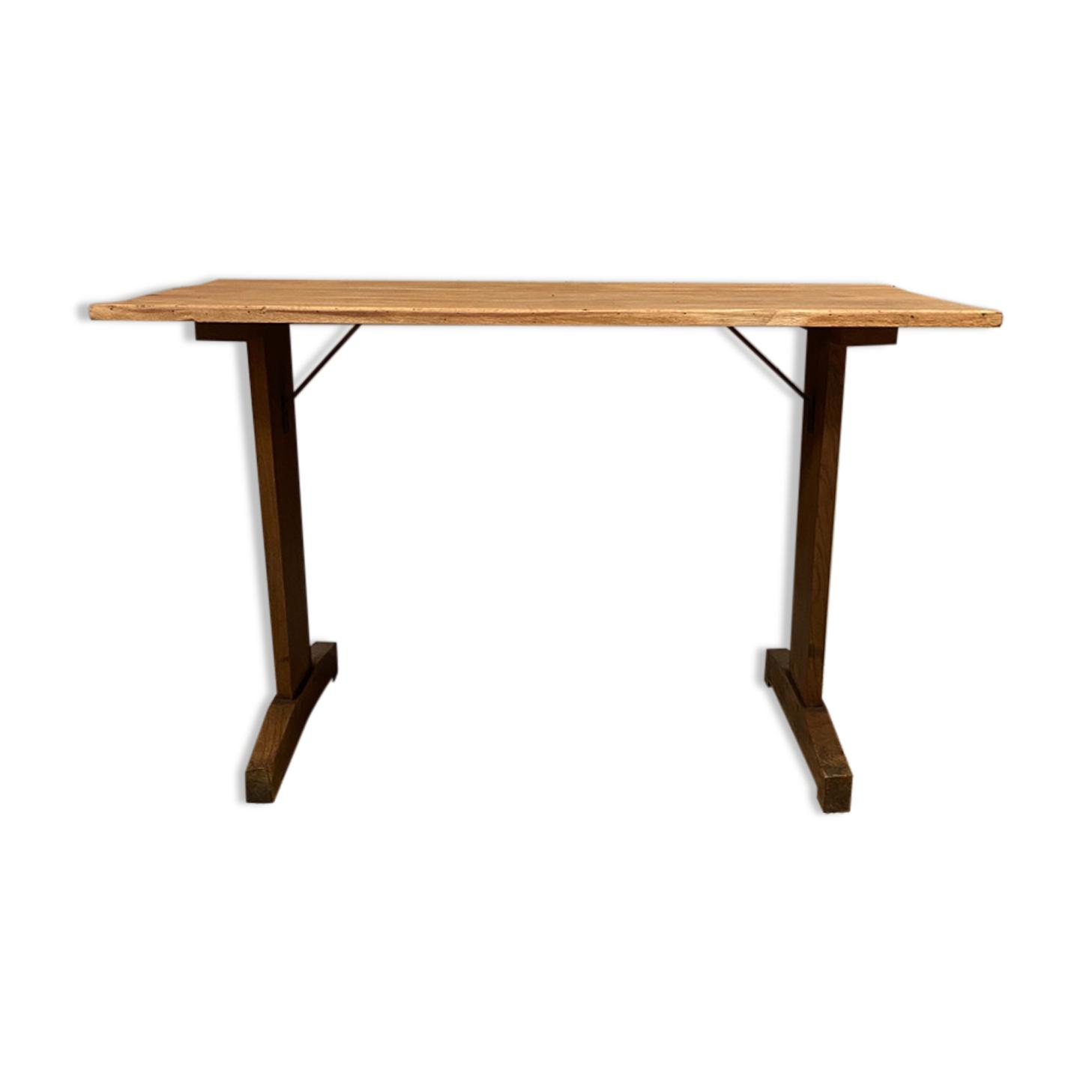 Table bistrot des années 40 en chêne
